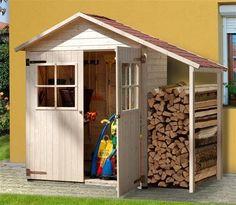 Gartenschrank / Geräteschrank 14mm Weka Gr2 natur Satteldach 245x105cm