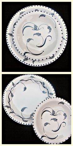 Hand Painted Dinnerware...in Black and White