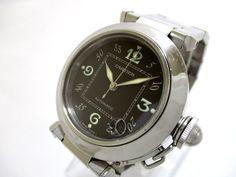 Authentic Cartier Pasha C W31043M7 Unisex Stainless Steel Wristwatch 680967CD #Cartier
