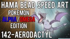 Hama Bead Speed Art   Pokemon   Alpha/Omega   Timelapse   142 - Aerodactyl