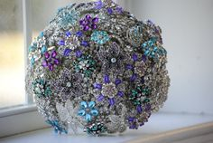 Brooch Bridal Bouquets by nicolasacicero on Etsy