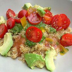 Quinoa al pesto con gelatinas de cítricos en HazteVegetariano.com