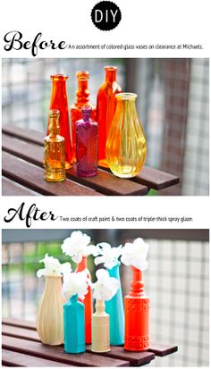 Painted Vases - Before and After
