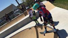 Instagram #skateboarding video by @downbeachskate - Look who learned to drop in today! @_laurena20_ #grom #gromlife #groms #downbeachskate #oceancityskatepark #skateboarding #skatelikeagirl. Support your local skate shop: SkateboardCity.co