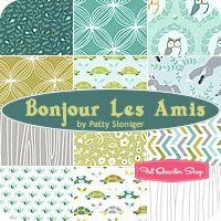 Bonjour Les Amis Fat Quarter Bundle Patty Sloniger for Michael Miller Fabrics