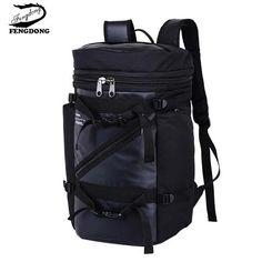 Fengdong 2018 Men Backpack Fashion Leisure Large Capacity Mountaineering Travel  Bag Backpack Male Mochila Bagpack Pack Design b3f8ada612