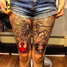 Star Wars tattoo. I would never actually get this, but WOW!