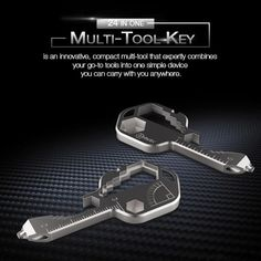 A TOOL LIKE NO OTHER Multi-Tool Key is an innovative, compact multi-tool like nothing seen before…it's truly a work of art with engineering that combines everyday common tools into one sleek little punch that delivers endless capability. Multi-Tool Key features many common tools that have been used for decades and proven essential for everyday fixes... FEATURES: 【MULTI-FUNCTION】- The multi-function tool key has an over 24+ versatile universal gadget functions. The tool key includes the function Tool Hooks, Smartphone Holder, Tough As Nails, Drill Driver, Technology Gadgets, Cool Gadgets, Stainless Steel