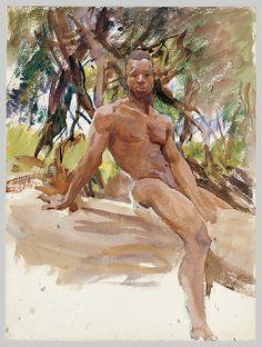 Man and Trees, Florida John Singer Sargent (American, Florence 1856–1925 London)