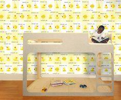 eco-friendly, green, removable WALLPAPER Quacking Ducks Wallpaper | Pop and Lolli #popandlolli #wallpaper