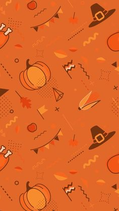 Thanksgiving Iphone Wallpaper, Holiday Wallpaper, Fall Wallpaper, Halloween Wallpaper, Wallpaper Backgrounds, Iphone Wallpapers, Fall Patterns, Print Patterns, Spooky Halloween Pictures