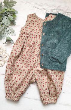 Baby Clothing Handmade Vintage Style Floral Romper   AshleyRoseMade on Etsy