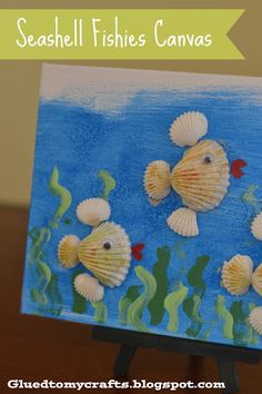 Seashell Fishies Canvas-so cute & great for all ages