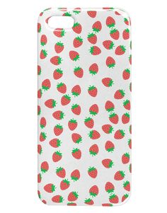 Strawberries Everywhere iphone 5 & 5S Plastic Case by TooLoud