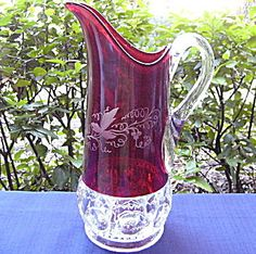 Kings Crown Ruby Tankard Pitcher