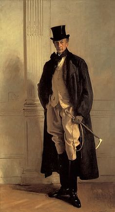 John Singer Sargent - Lord Ribblesdale. Thomas Lister (1854 - 1925), 4th Baron Ribblesdale, is shown in hunting clothes. He was Master of the Buckhounds and Liberal whip in the House of Lords. He was a Trustee of the National Gallery from 1909 until his death.