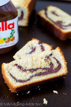 Nutella Swirl Pound Cake by sallysbakingaddiction.com