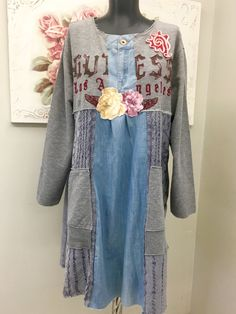 1713 best images about Altered & Upcycled Fashion on . Casual Cotton Dress, Cotton Dresses, Midi Dresses, Altered T Shirts, Diy Clothing, Recycled Clothing, Altered Couture, Altering Clothes, Recycled Denim