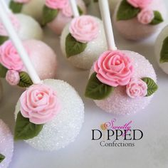 New Cake Pop Favors For White And Pink Rose Decorated Cake Pop Favors Bay Wedding Desserts And Cake Pops By Sweetly Dipped Confections 81 Cake Pop Supplies Canada. Cake Cookies, Cupcake Cakes, Mini Cakes, Flower Cake Pops, Pink Cake Pops, Cake Pop Favors, Bolo Moana, Mothers Day Cake, Mothers Day Desserts