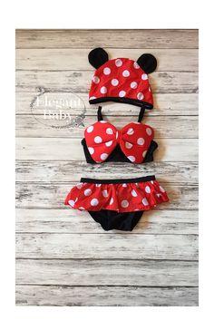 Baby Girls Minnie Mouse Bikini / Girls Polka by ElegantBabyShop