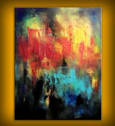 ORIGINAL - Palette knife texture painting 22 x 28 abstract wall decor Mattsart