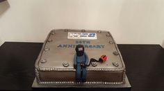 10th anniversary welding cake