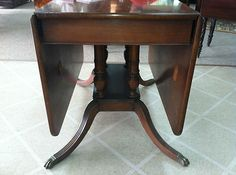Gorgeous Antique Mahogany Drop Leaf Table Circa Early 20th Century