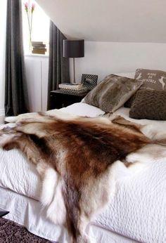faux fur bedroom - Google Search
