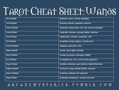 Tarot Cheat Sheet - Arcane Mysteries - Album on Imgur #tarotcardscheatsheets