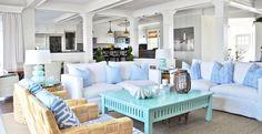 coastal living room | Glazer Construction