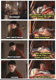 And Arthur, the lovable idiot he is, doesn't believe Merlin