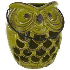 Green Ceramic Owl Lantern   Shop Hobby Lobby