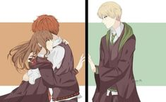Dramione :') uploaded by Vanya Anne on We Heart It Mundo Harry Potter, Harry Potter Actors, Harry Potter Ships, Harry Potter Tumblr, Harry Potter Anime, Harry Potter Fan Art, Harry Potter Fandom, Harry Potter Memes, Harry Potter World
