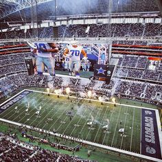 Dallas does everything big - here is an action shot from the stands at ATT Stadium (Formerly Cowboys Stadium) in Arlington Texas Dallas Cowboys Pictures, Dallas Football, Cowboys 4, Dallas Cowboys Football, Dallas Texas, Football Movies, Cowboys Stadium, How Bout Them Cowboys, Sports