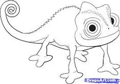 chameleon outline drawing - Google Search