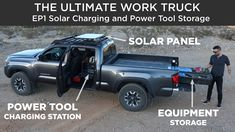 The Ultimate Work Truck | EP1 Solar Charging and Power Tool Storage