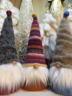 Adorable Christmas Gnomes, Swedish Tomte, Norwegian Nisse, Christmas Elves by Gnomes4theHolidays on Etsy