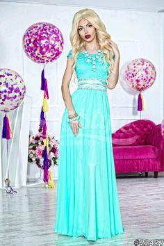 48036fe159c Очаровательное платье ТИНА (бирюзовый цвет) Универсальный размер 42-44  Основа  Масло+. Вечерние Платья