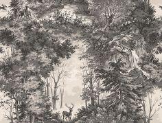 Mulberry Home Torridon Woodsmoke Wallpaper main image