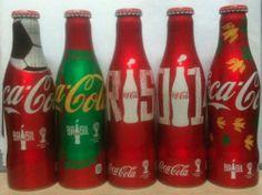 Thai Coke Aluminum Bottle Limited Edition 2014 FIFA World Cup Brazil Set of 5