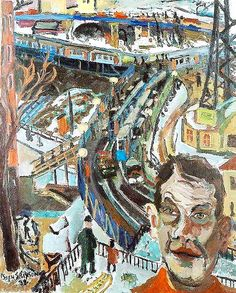 Erixson, Sven (1899-1970) - 1932 Self-Portrait With a View of the Lock (Goteborg Art Museum, Sweden) by RasMarley, via Flickr