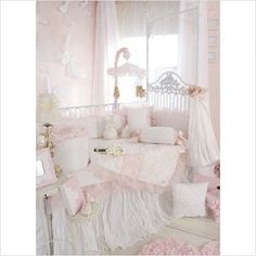 Bundle-98 Glenna Jean Little Diva Crib Bedding Collection (2 Pieces)