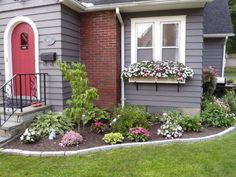 Flower Bed In Front Of House