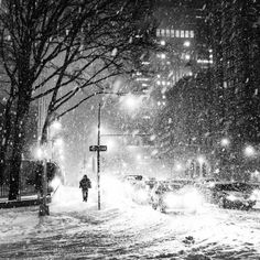 Let's walk until we disappear into the snow and city...