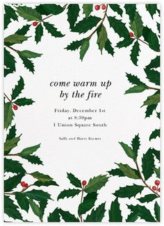 Holiday invitations - online and paper - Paperless Post