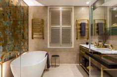 The Sound of Silence - Celebrity interiors. Daniel Hopwood, interior designer London. Master bathroom