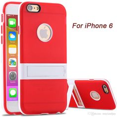 Leather Cell Phone Cases 2015 New Candy Color Kickstand Soft Tpu Case For Apple Iphone 6/6plus Ultrathin Lovely Back Cover Hole Logo +Body Stand Case Cell Phone Cases From Mayiandjay, $1.38
