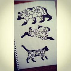 rose cat tattoo - Google-haku