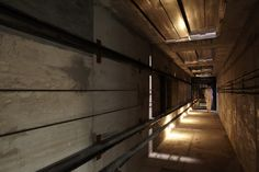 the elevator exhibit also has a hidden horizontal elevator shaft.   by leandro erlich