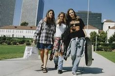 I couldn't live without my flannel back then and I rocked the combat boots with shorts too...what?